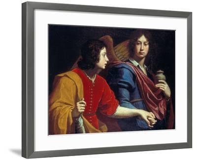 The Archangel Raphael with Tobias, 1740s-Lorenzo Lippi-Framed Giclee Print
