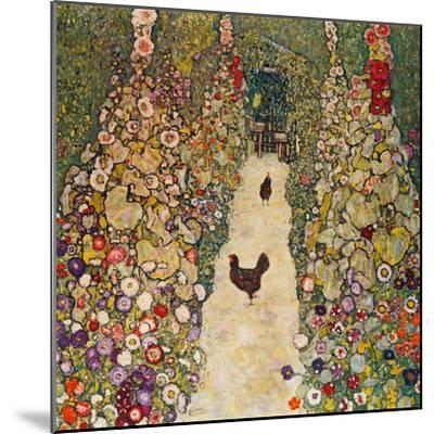 Garden Path with Chickens, 1916, Burned at Schloss Immendorf in 1945-Gustav Klimt-Mounted Premium Giclee Print
