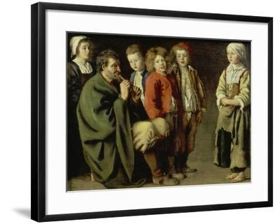 The Old Flutist-Louis Le Nain-Framed Giclee Print
