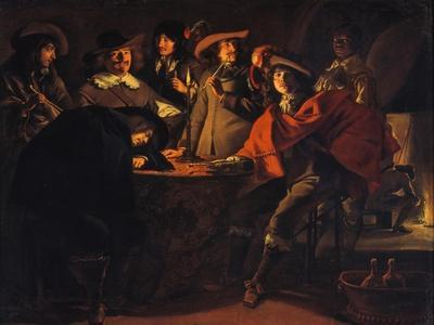The Guardroom, 1643-Louis Le Nain-Framed Giclee Print