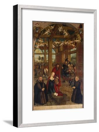 Adoration of the Shepherds, Epitaph for Caspar Niemeck, 1564-Lucas Cranach the Younger-Framed Giclee Print