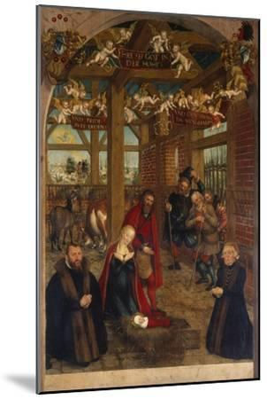 Adoration of the Shepherds, Epitaph for Caspar Niemeck, 1564-Lucas Cranach the Younger-Mounted Giclee Print