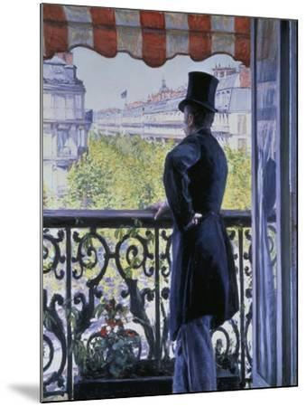 Man on a Balcony, Boulevard Haussmann, 1880-Gustave Caillebotte-Mounted Giclee Print