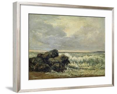 The Wave, Um 1870-Gustave Courbet-Framed Giclee Print