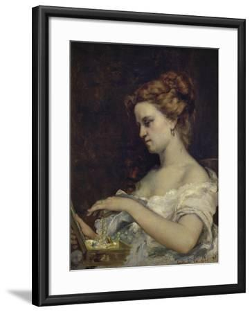 A Woman with Jewellery, 1867-Gustave Courbet-Framed Giclee Print