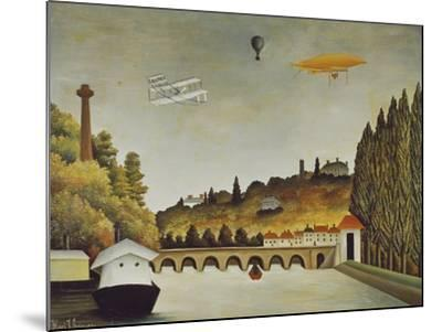 View of the Bridge at Sevres and the Hills at Clamart, St, Cloud, 1908-Henri Rousseau-Mounted Giclee Print