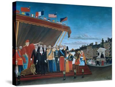 The Representatives of Foreign Powers Coming to Salute the Republic, 1907-Henri Rousseau-Stretched Canvas Print