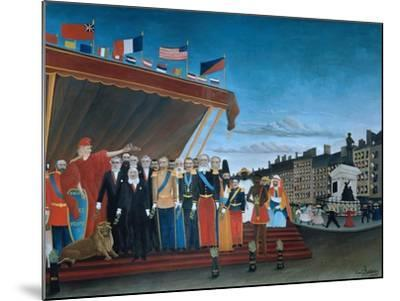 The Representatives of Foreign Powers Coming to Salute the Republic, 1907-Henri Rousseau-Mounted Giclee Print