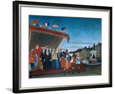 The Representatives of Foreign Powers Coming to Salute the Republic, 1907-Henri Rousseau-Framed Giclee Print