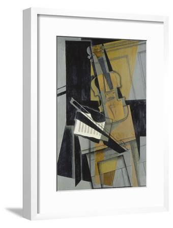 The Violin (Le Violon), 1916-Juan Gris-Framed Giclee Print