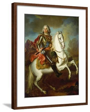 King Augustus II, (The Strong) of Poland Mounted on a Horse, C. 1718-Louis Silvestre-Framed Giclee Print