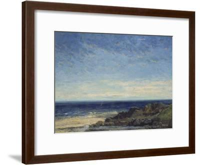 The Sea - Blue Sea, Blue Sky, 1867-Gustave Courbet-Framed Giclee Print
