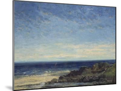 The Sea - Blue Sea, Blue Sky, 1867-Gustave Courbet-Mounted Giclee Print