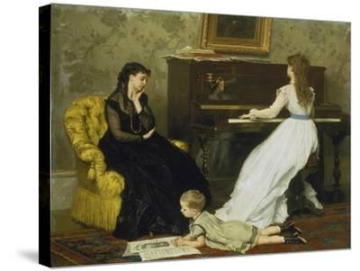 The Music Room-Gustave Léonhard de Jonghe-Stretched Canvas Print