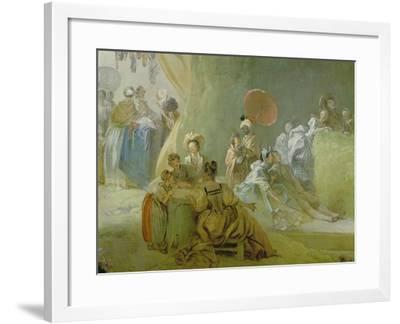 The Festival in the Park of St. Cloud, 1778-80-Jean-Honor? Fragonard-Framed Giclee Print