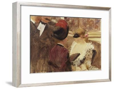 The Loge-Jean Louis Forain-Framed Giclee Print
