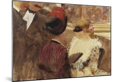 The Loge-Jean Louis Forain-Mounted Giclee Print