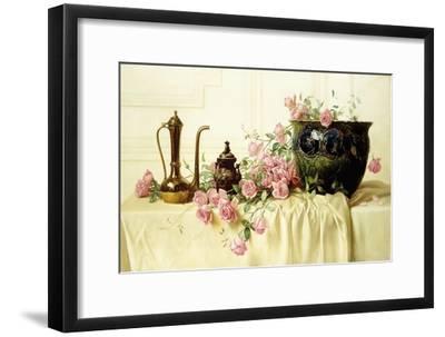 Pink Roses-Milne Ramsey-Framed Giclee Print