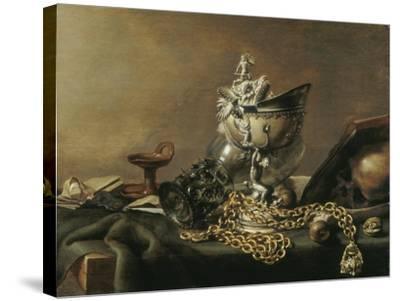 Vanitas Still-Life with Nautilus Cup, 1634-Pieter de Hooch-Stretched Canvas Print