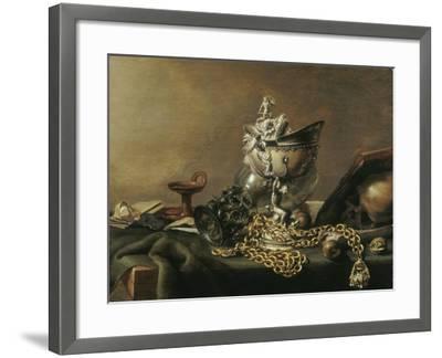 Vanitas Still-Life with Nautilus Cup, 1634-Pieter de Hooch-Framed Giclee Print