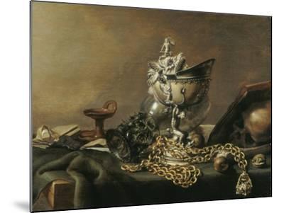 Vanitas Still-Life with Nautilus Cup, 1634-Pieter de Hooch-Mounted Giclee Print