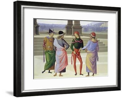 Detail From: the Marriage of the Virgin: Four Men, C. 1500-Pietro Vanucci Perugino-Framed Giclee Print