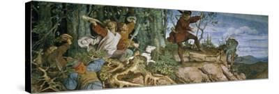 The Foundation Saga of the Wartburg Castle, 1855-Moritz Von Schwind-Stretched Canvas Print