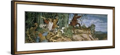 The Foundation Saga of the Wartburg Castle, 1855-Moritz Von Schwind-Framed Giclee Print