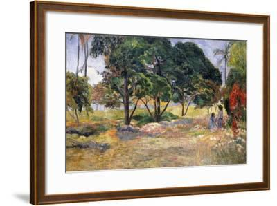 Landscape with Three Trees (Paysage Aux Trois Arbres), 1892-Paul Gauguin-Framed Giclee Print