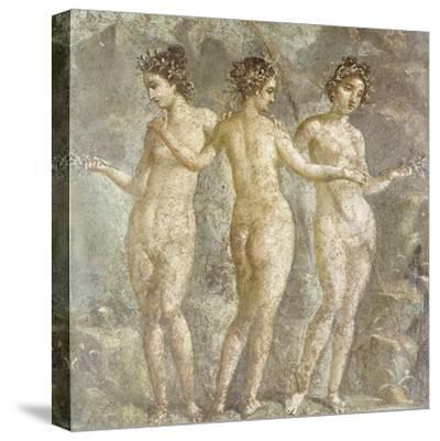 The Three Graces-Pompeii-Stretched Canvas Print