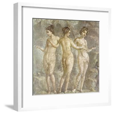 The Three Graces-Pompeii-Framed Giclee Print