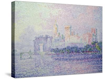 The Papal Palace in Avignon, 1900-Paul Signac-Stretched Canvas Print