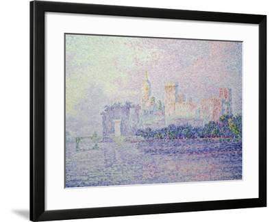 The Papal Palace in Avignon, 1900-Paul Signac-Framed Giclee Print
