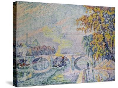 Pont Royal in Autumn, Paris, 1920-Paul Signac-Stretched Canvas Print