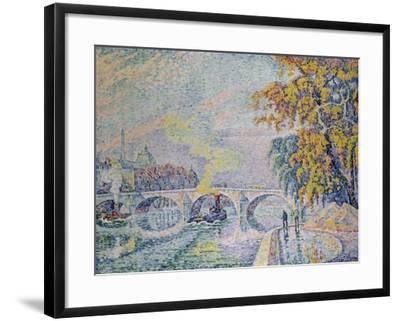 Pont Royal in Autumn, Paris, 1920-Paul Signac-Framed Giclee Print