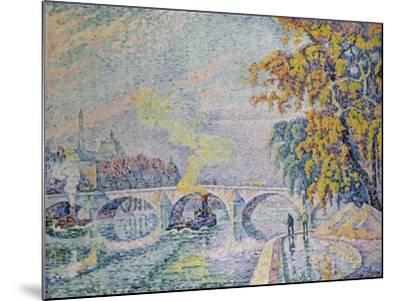 Pont Royal in Autumn, Paris, 1920-Paul Signac-Mounted Giclee Print