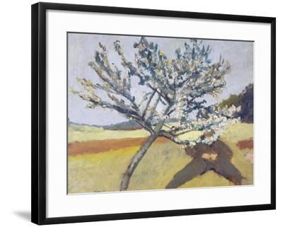 Liegender Mann Unter Bluehendem Baum, 1903-Paula Modersohn-Becker-Framed Giclee Print