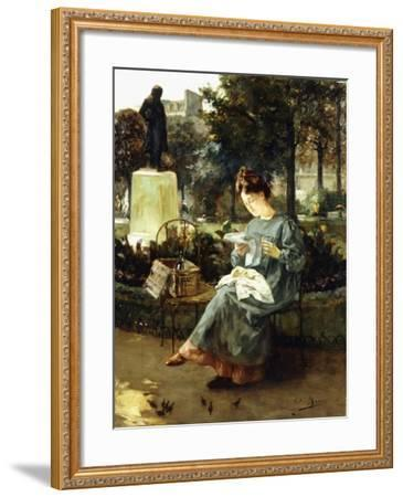 Afternoon in the Luxembourg Gardens-Victor Marec-Framed Giclee Print