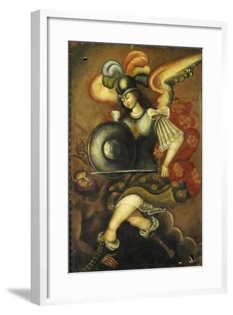 Der Erzengel Michael Und Der Teufel- Peruvian-Framed Giclee Print