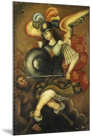 Der Erzengel Michael Und Der Teufel- Peruvian-Mounted Giclee Print