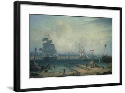 View of Liverpool, from Cheshire-Robert Salmon-Framed Giclee Print