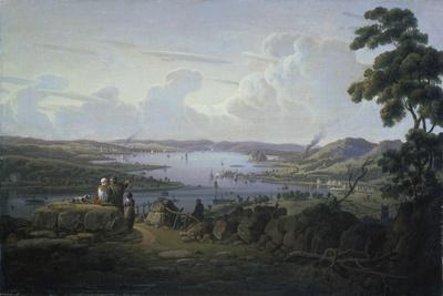 View of Dunbarton and the River Clyde, 1817-Robert Salmon-Framed Giclee Print