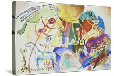 Komposition Mit Heiligen, 1911--Stretched Canvas Print