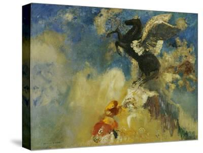 The Black Pegasus, 1909-1910-Odilon Redon-Stretched Canvas Print