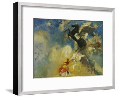 The Black Pegasus, 1909-1910-Odilon Redon-Framed Giclee Print