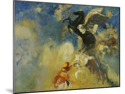 The Black Pegasus, 1909-1910-Odilon Redon-Mounted Giclee Print
