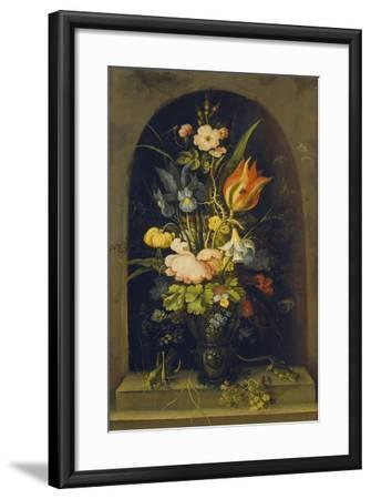 Flower Still Life in a Niche, 1627-Rogier van der Weyden-Framed Giclee Print