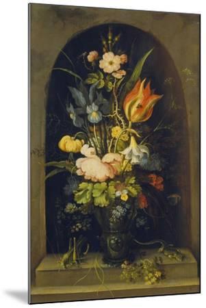 Flower Still Life in a Niche, 1627-Rogier van der Weyden-Mounted Giclee Print