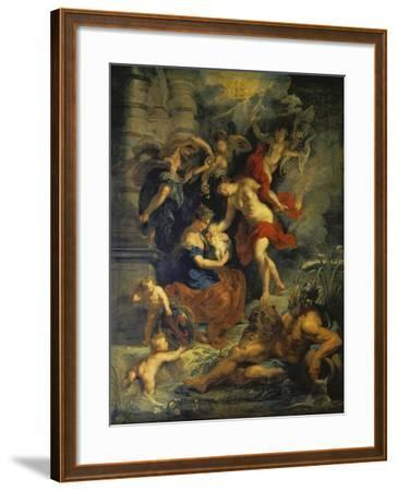 The Medici Cycle: the Birth of Marie De Medici, 1621-25-Peter Paul Rubens-Framed Giclee Print