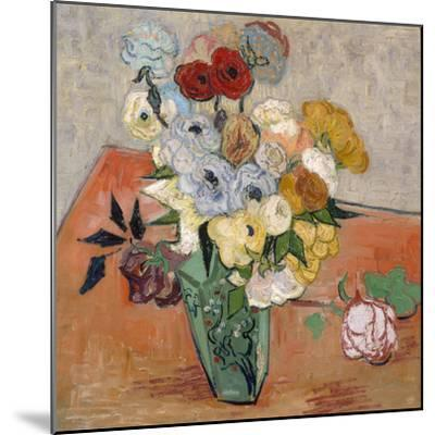 Vase with Roses and Anemones, 1890-Vincent van Gogh-Mounted Giclee Print